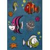 Tapis bleu pour enfant à courtes mèches Nemo