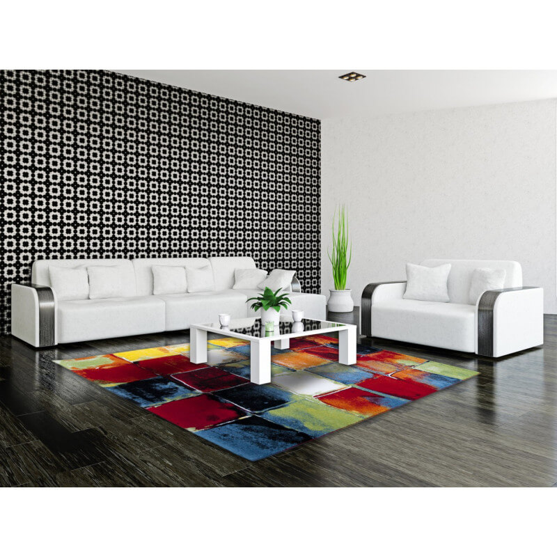 tapis moderne et multicolore de salon bahia. Black Bedroom Furniture Sets. Home Design Ideas