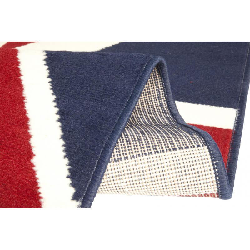 tapis union jack drapeau anglais bleu et rouge. Black Bedroom Furniture Sets. Home Design Ideas
