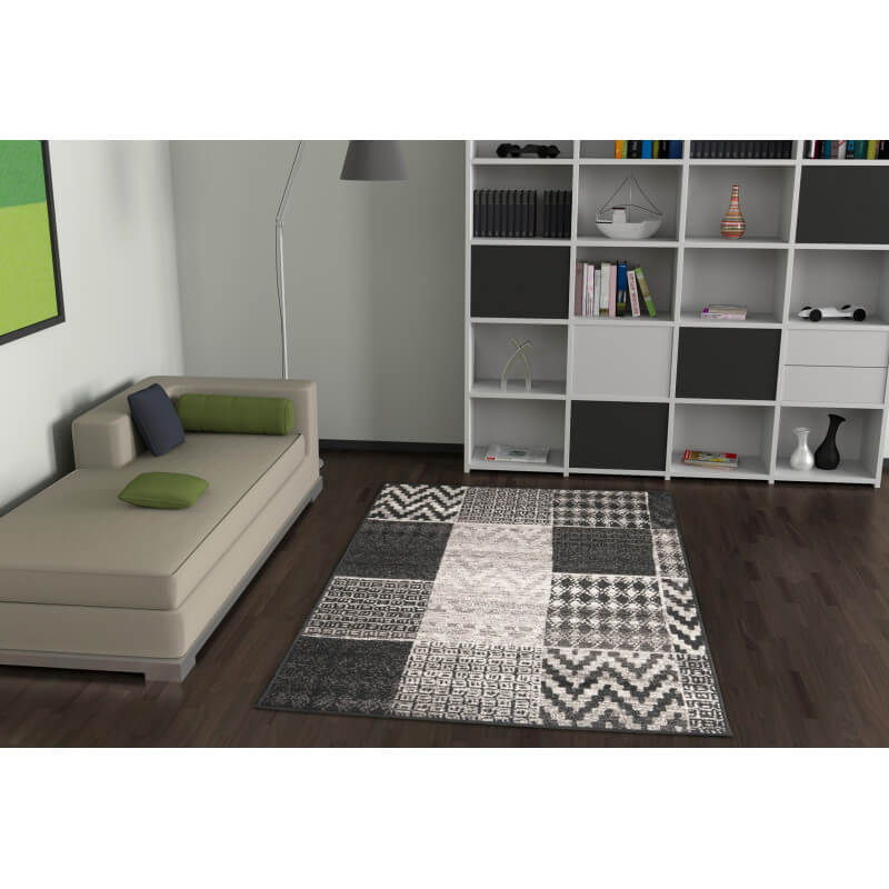 tapis de salon argent design convivo winter. Black Bedroom Furniture Sets. Home Design Ideas