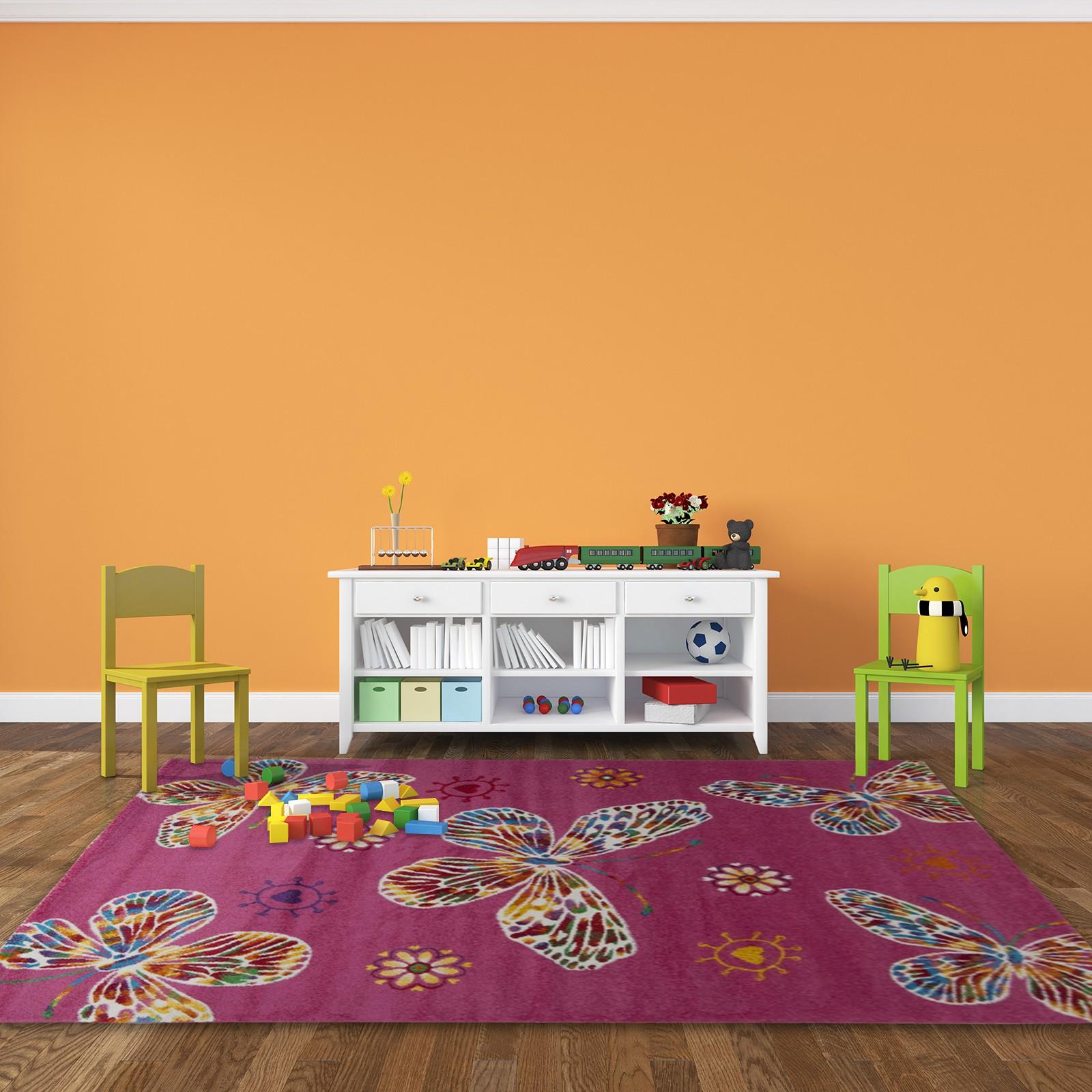 tapis color pour chambre de b b rose crian a. Black Bedroom Furniture Sets. Home Design Ideas