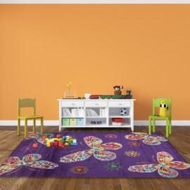 Tapis rond turquoise oriental lounge par esprit home - Tapis de chambre bebe ...