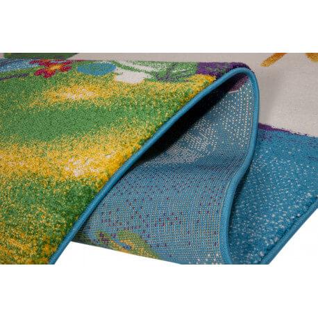 Tapis turquoise à courtes mèches pour enfant Sapo