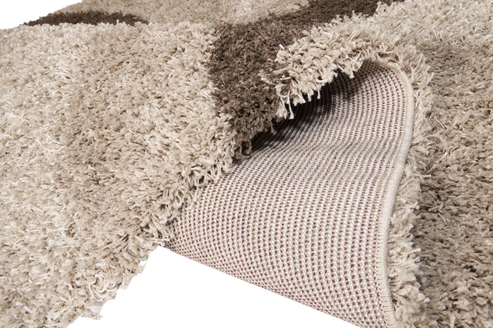 Tapis design shaggy beige Enjoy