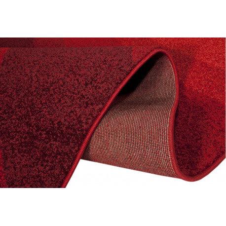Tapis rectangulaire à courtes mèches rouge Tenor