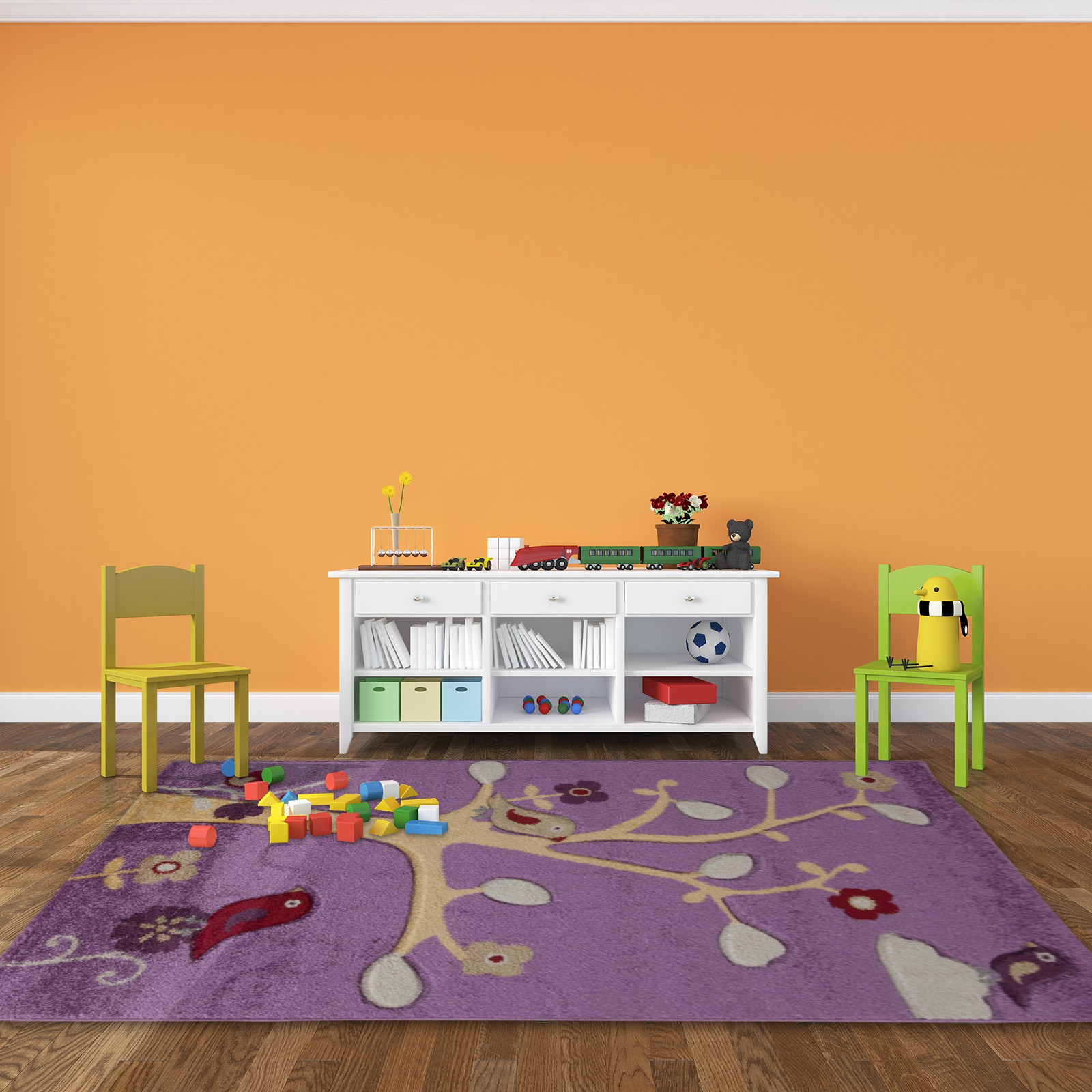 tapis de chambre pour fille violet happy. Black Bedroom Furniture Sets. Home Design Ideas