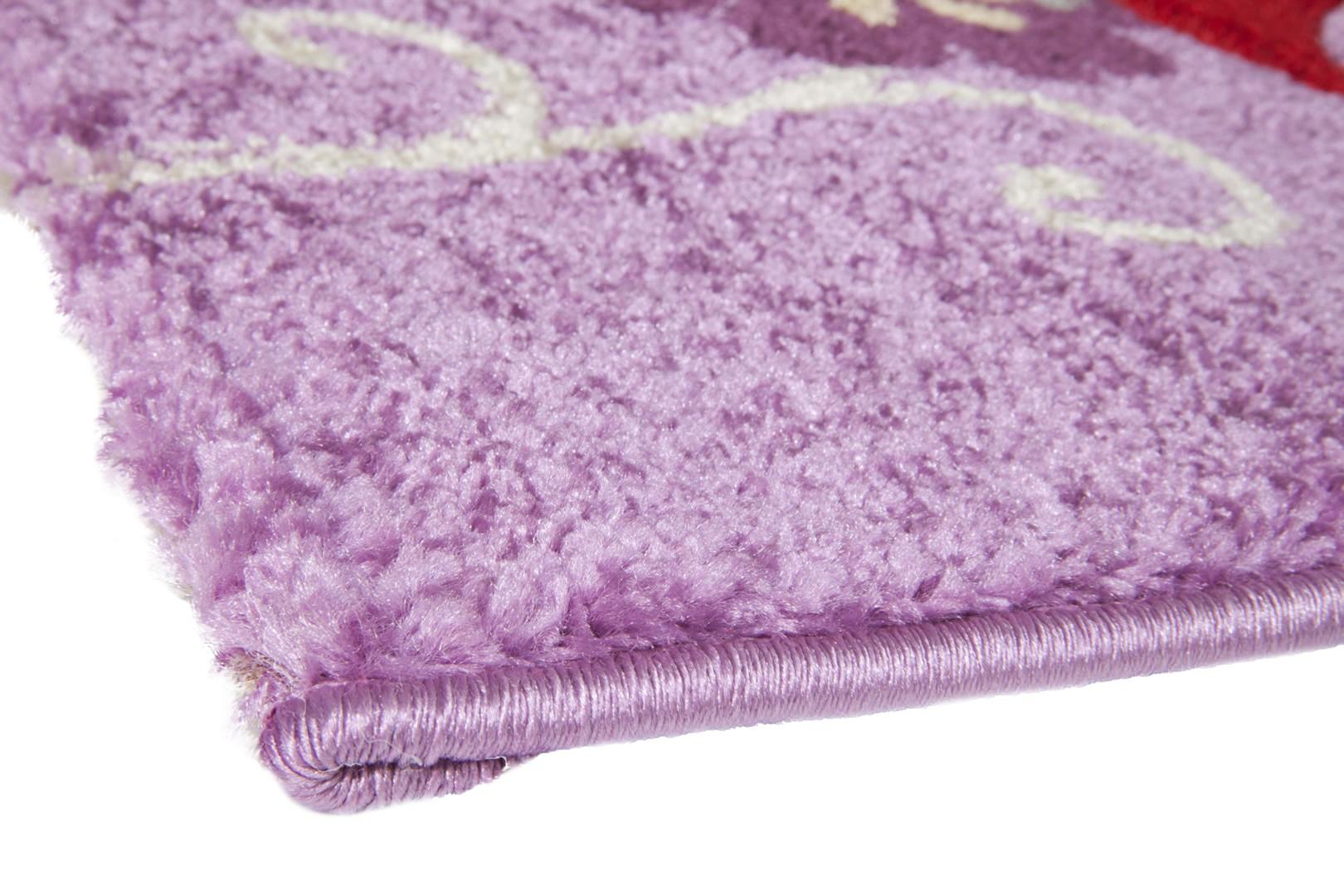 Tapis de chambre pour fille violet Happy