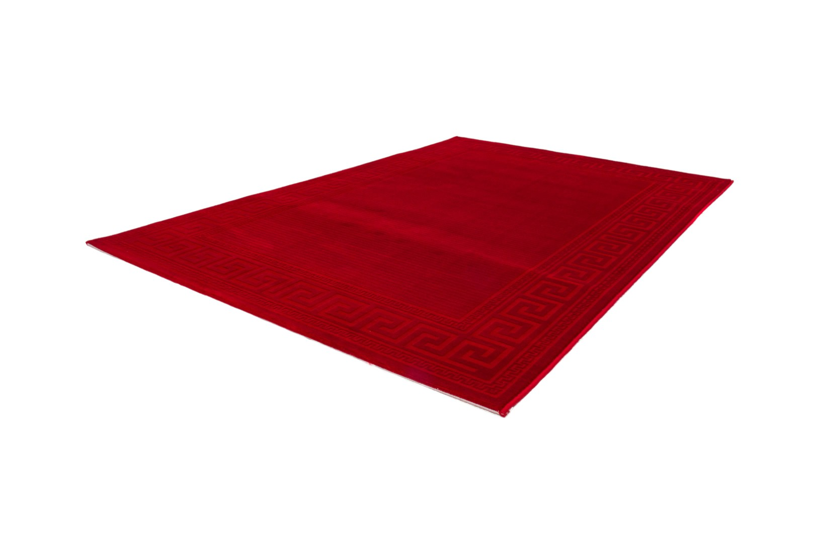 Tapis contemporain pour salon rouge Lydia