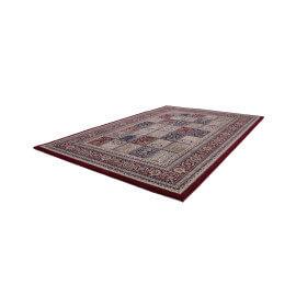Tapis au style oriental rouge en polypropylène Gafsa