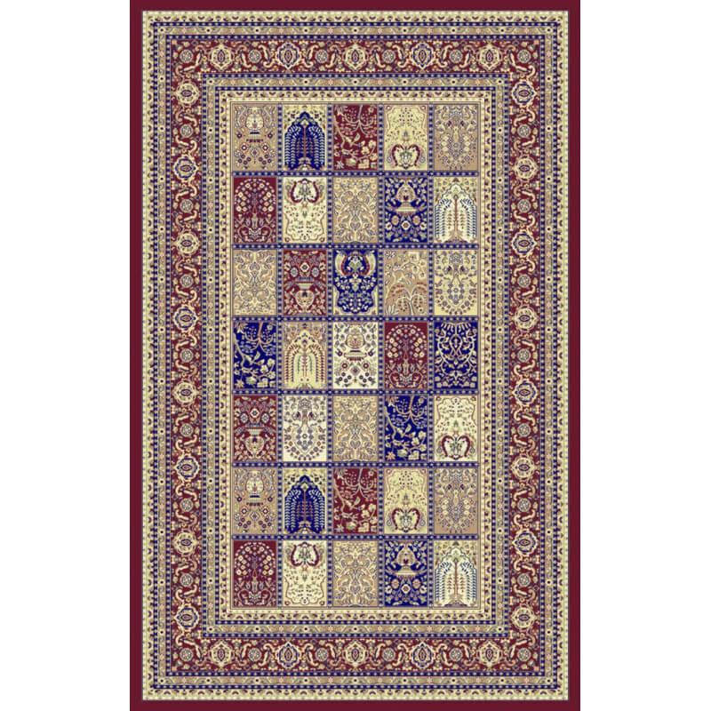 tapis au style oriental rouge en polypropyl ne gafsa. Black Bedroom Furniture Sets. Home Design Ideas