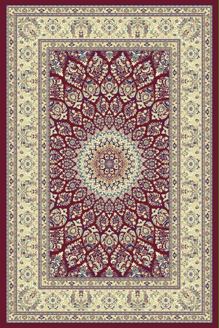 Tapis style orient rouge rectangulaire Bizerte