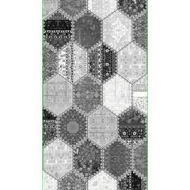 Tapis argenté en acrylique Molte