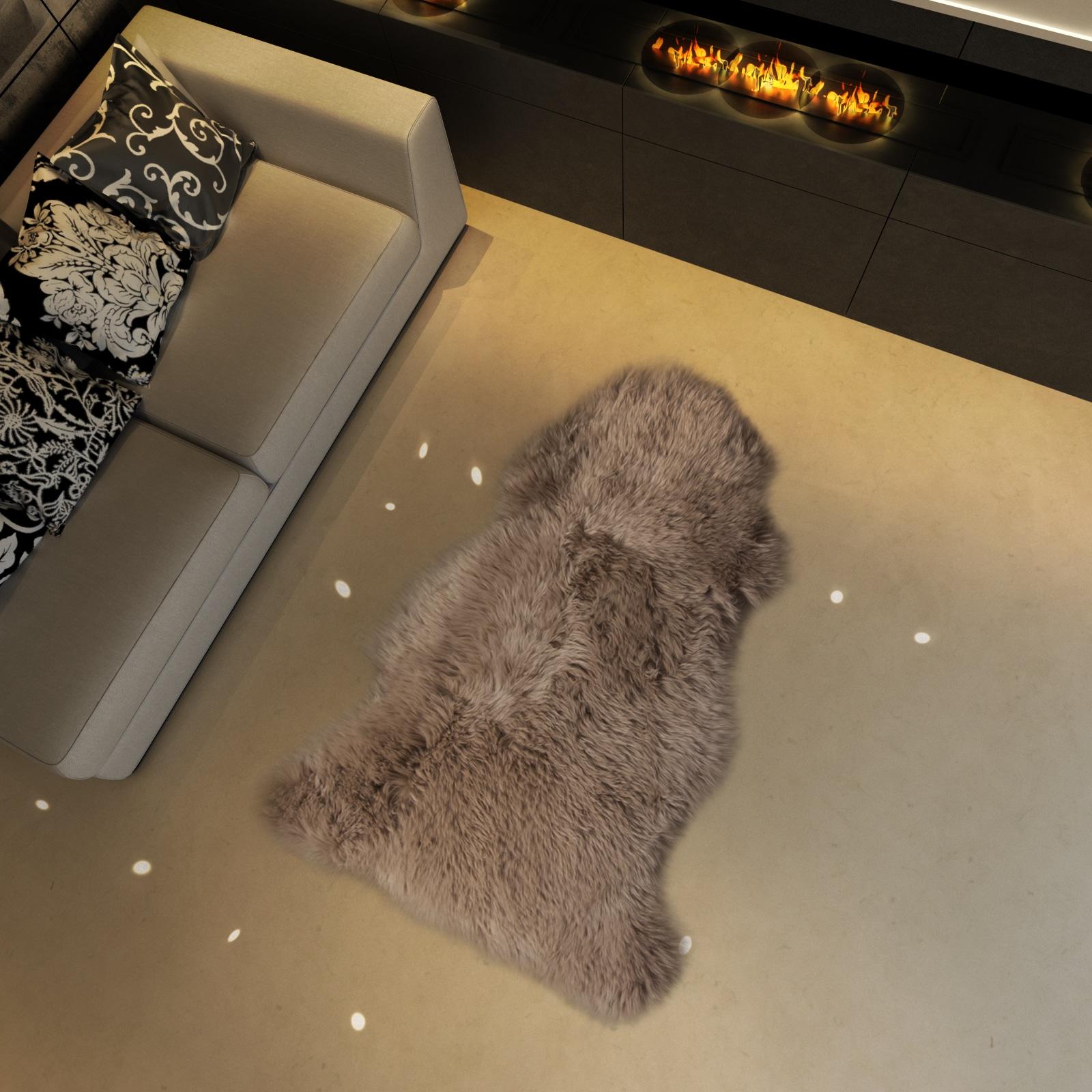 Le tapis en peau de mouton courchevel le blog allotapis - Tapis peau de mouton synthetique ...